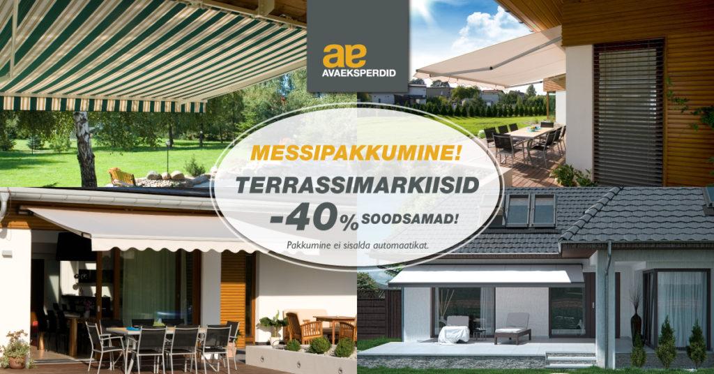 Kampaania terrassimarkiisid 40 soodsamad